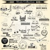 Music and Entertainment calligraphy Royalty Free Stock Photography