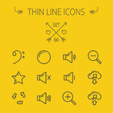 Music and entertainment thin line icon set Stock Photography