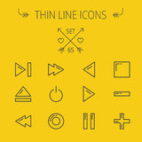 Music and entertainment thin line icon set Royalty Free Stock Photo