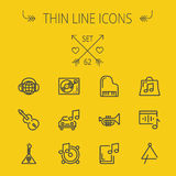 Music and entertainment thin line icon set Royalty Free Stock Images