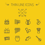 Music and entertainment thin line icon set Stock Images