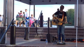 Music Entertainment at the Waterfront stock video footage