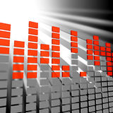 Music Equaliser Shows Sound Track And Acoustic Royalty Free Stock Image