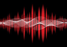 Music equaliser wave red Royalty Free Stock Photography