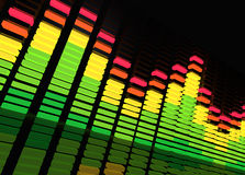 Music Equalizer. Music background featuring a equalizer stock illustration