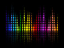 Music Equalizer. Illustration of a Colorful Music Equalizer Stock Photos