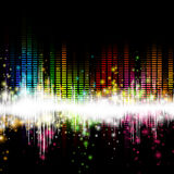 Music Equalizer. Illustration of a Colorful Music Equalizer Stock Images