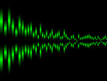 Music equalizer. Background vector illustration Royalty Free Stock Photos