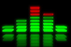 Music equalizer backdrop Stock Photo