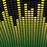 Music Equalizer Background. Green and Yellow Music Equalizer Background Royalty Free Stock Photo