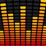 Music Equalizer Background. Orange and Yellow Music Equalizer Background Royalty Free Stock Photography