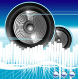 Music equalizer background. Big speaker equalizer sound background Royalty Free Stock Images