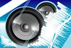 Music equalizer background. Big speaker equalizer sound background vector illustration