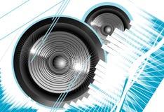 Music equalizer background. Big speaker equalizer sound background stock illustration