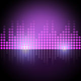 Music Equalizer Background Means Electronic Beats Display Stock Photos