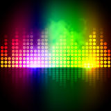 Music Equalizer Background Means Volume Beats Display Royalty Free Stock Photos
