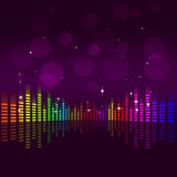 Music Equalizer Background Royalty Free Stock Photography