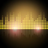Music Equalizer Background Shows Frequency Meter Or Sound Analyz Royalty Free Stock Images