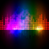 Music Equalizer Background Shows Pulse Track Or Sound Frequency Royalty Free Stock Images