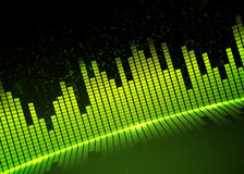 Music equalizer background. Vector illustration. Royalty Free Stock Photo