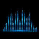 Music equalizer background. Vector illustration. Royalty Free Stock Photography