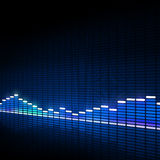 Music Equalizer Blue Background Stock Photo