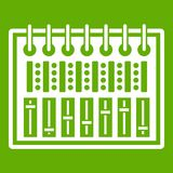 Music equalizer console icon green Stock Photography