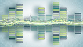 Music equalizer with curves abstract background Royalty Free Stock Photo