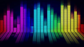 Music equalizer. Graphics of music equalizer on black background royalty free illustration