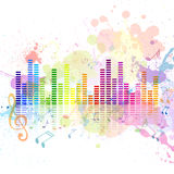 Music Equalizer. Illustration of an Abstract Background with Music notes Stock Images