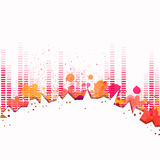 Music Equalizer. Illustration of an Abstract City Background with Music Equalize Royalty Free Stock Photos