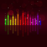 Music Equalizer Multicolor Background Royalty Free Stock Photo