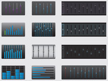Music equalizer set Royalty Free Stock Photo