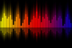 Music equalizer wave Stock Photography