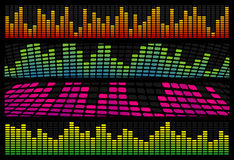 Music Equalizer Web Banners. Four Music Equalizer Web Banners Stock Photo