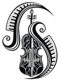 Icon of violin. Concert of live music.Vector Illustration vector illustration