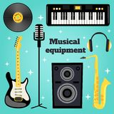 Music equipment set Stock Photo