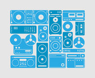 Music equipments set Royalty Free Stock Images