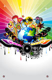 Music Event Background. Global Music Event Background with Musical Design elements vector illustration