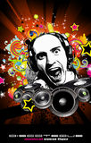 Music Event Background with Disk Jockey Shape Royalty Free Stock Images