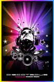 Music Event Background with Disk Jockey Shape Royalty Free Stock Photography