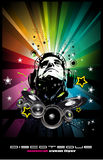 Music Event Background with Disk Jockey Shape f Stock Photos