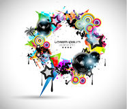 2014 Music Event Background for your  Flyers Royalty Free Stock Images
