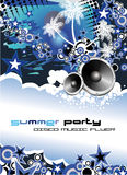 Music Event Discoteque Flyer. Disco Dance Tropical Music Flyer with colorful background Stock Photography
