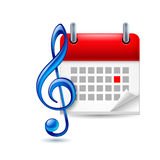 Music event icon Stock Photos