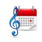 Music event icon Stock Photos