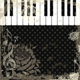 Music event piano template. Royalty Free Stock Image
