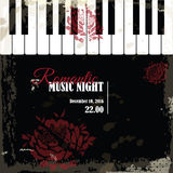 Music event piano template. Background with piano keys. Piano ke Stock Images