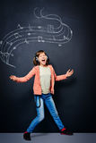 Music expression Stock Image