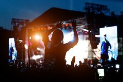Free Music Fan Enjoying Night Perfomance Of Famous Artist On Stage Royalty Free Stock Photo - 172525205